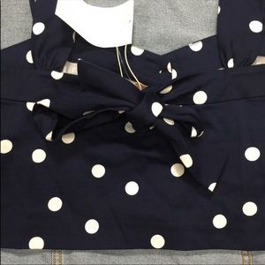 Zara Tops - •ZARA TRAFALUC• Polka Dot Crop Top